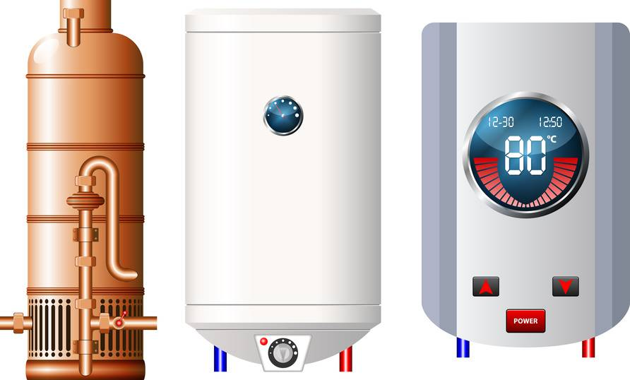 types of water heaters