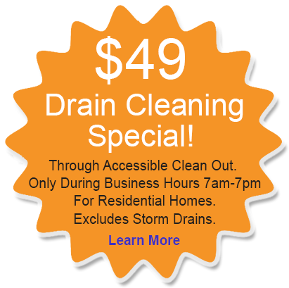 $49 Drain Cleaning Special