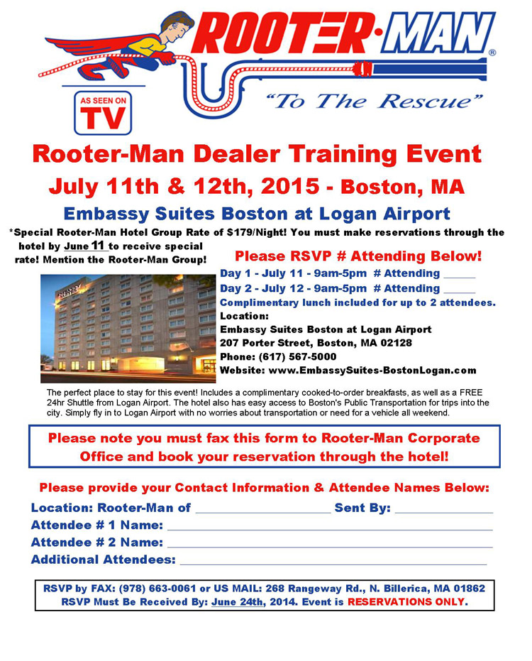 rooterman training july 2015
